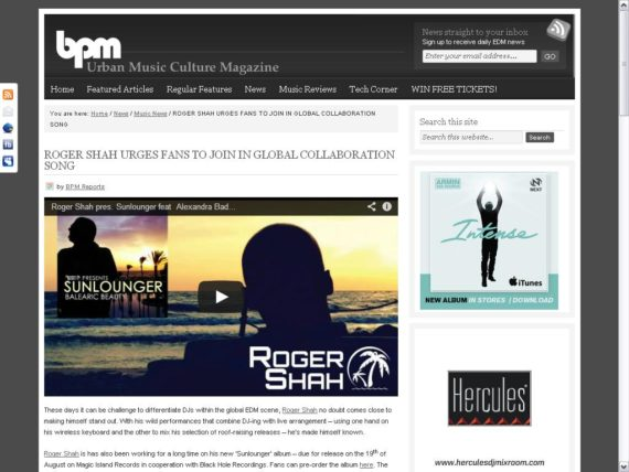 Roger Shah BPM
